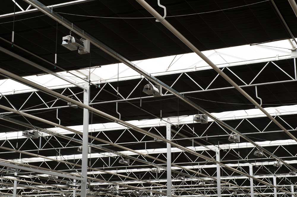 verduisteringsscherminstallatie glastuinbouw