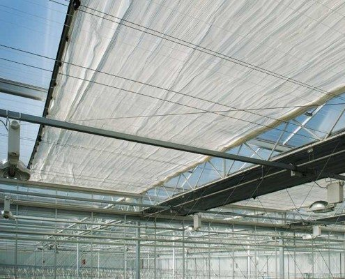 Axia seeds zonwering scherminstallatie glastuinbouw