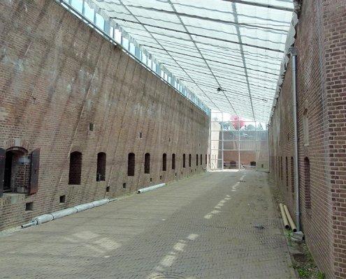Scherminstallatie bij Fort 1881 in Hoek van Holland