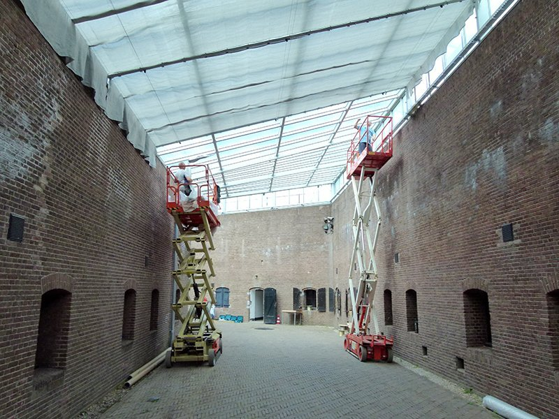 Screeninstallation at Fort 1881 in Hoek van Holland