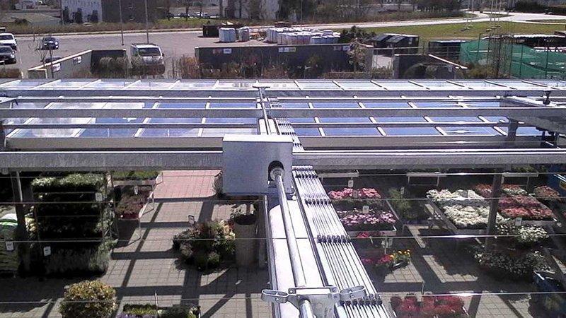 Novavert systeem met aluminium profielen